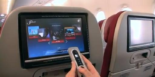 sistema de entretenimiento en avión